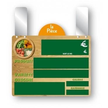 Etiquette Fresh Market avec disque grandes pattes