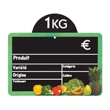 Etiquette ceuillette avec disque poids